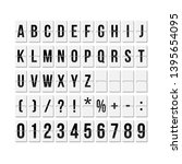 flipboard style alphabet vector ... | Shutterstock .eps vector #1395654095