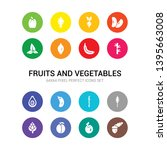 16 fruits and vegetables vector ...   Shutterstock .eps vector #1395663008