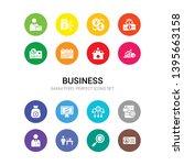 16 business vector icons set...   Shutterstock .eps vector #1395663158