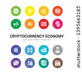 16 cryptocurrency economy... | Shutterstock .eps vector #1395663185
