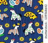 animals seamless pattern | Shutterstock .eps vector #139568642