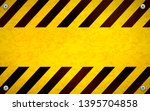 bright yellow blank warning... | Shutterstock .eps vector #1395704858
