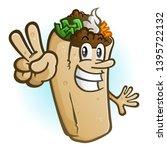 A Cheerful Burrito Cartoon...