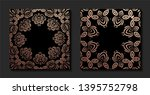 decorative mandala. golden...   Shutterstock .eps vector #1395752798