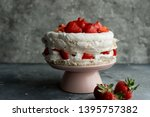 Pavlova Cake Topped With...