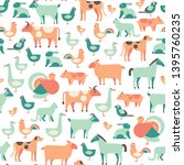 vector veterinary pattern....   Shutterstock .eps vector #1395760235