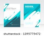 vector design for cover report... | Shutterstock .eps vector #1395775472