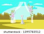 wedding arch flat vector... | Shutterstock .eps vector #1395783512