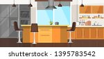 modern cozy kitchen room... | Shutterstock .eps vector #1395783542