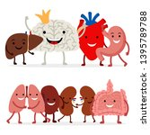 cute human internal organs... | Shutterstock .eps vector #1395789788