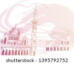 """eid mubarak"" background design ...   Shutterstock .eps vector #1395792752"