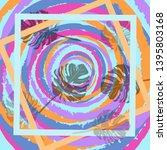 square flower arrangement.... | Shutterstock .eps vector #1395803168