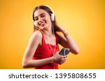 studio shot portrait of young... | Shutterstock . vector #1395808655