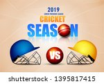 illustration of  cricket... | Shutterstock .eps vector #1395817415