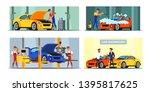 car maintenance service flat... | Shutterstock .eps vector #1395817625