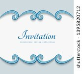 vintage vector frame with wavy... | Shutterstock .eps vector #1395820712