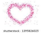 heart confetti isolated white... | Shutterstock .eps vector #1395826025