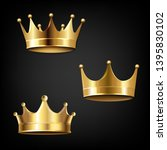 crown set isolated black... | Shutterstock .eps vector #1395830102