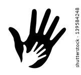 caring hand  raster illustration | Shutterstock . vector #139584248