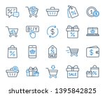 shopping wallet line icons....   Shutterstock .eps vector #1395842825