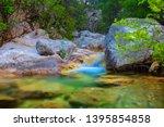 beautiful emerald mountain... | Shutterstock . vector #1395854858