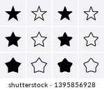 star icons set. vector for... | Shutterstock .eps vector #1395856928