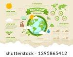 high detail green nature earth... | Shutterstock .eps vector #1395865412
