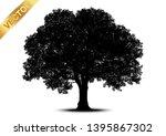 tree silhouettes on white... | Shutterstock .eps vector #1395867302