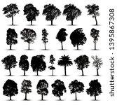 tree silhouettes on white... | Shutterstock .eps vector #1395867308