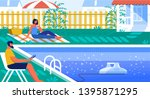 vector illustration pool...   Shutterstock .eps vector #1395871295