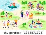 family active outdoor leisure... | Shutterstock .eps vector #1395871325