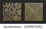 gold  hand drawn pattern....   Shutterstock .eps vector #1395872492