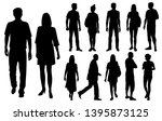 vector silhouettes men and... | Shutterstock .eps vector #1395873125