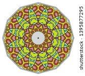 mandala flower decoration  hand ... | Shutterstock .eps vector #1395877295