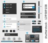 set of modern web menu and...