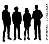 set of vector silhouettes of ... | Shutterstock .eps vector #1395895655