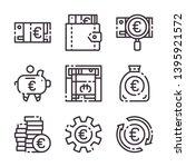 euro simple strock icon. paper...