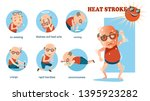 heat stroke signs and symptoms. ... | Shutterstock .eps vector #1395923282