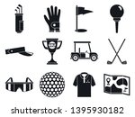 golf sport icons set. simple... | Shutterstock .eps vector #1395930182