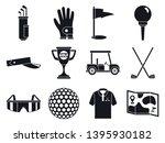 golf sport icons set. simple... | Shutterstock .eps vector #1395930182