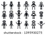 humanoid character icons set....   Shutterstock .eps vector #1395930275