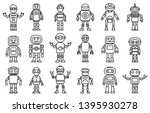 humanoid robot icons set.... | Shutterstock .eps vector #1395930278