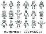humanoid robot icons set.... | Shutterstock .eps vector #1395930278