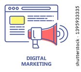 digital marketing colorful line ...
