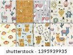 pattern set with different... | Shutterstock .eps vector #1395939935