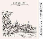 bangalore  bengaluru  ... | Shutterstock .eps vector #1395983735