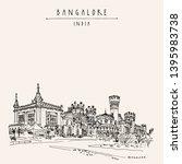 bangalore  bengaluru  ... | Shutterstock .eps vector #1395983738