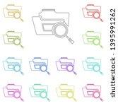 search folder multi color icon. ...