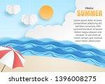 hello summer background. travel ... | Shutterstock .eps vector #1396008275
