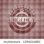 urgency red seamless badge with ... | Shutterstock .eps vector #1396016882